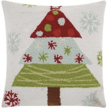 """Home for the Holiday Yx013 Multicolor 18"""" X 18"""" Throw Pillows"""