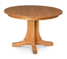 "Prairie Mission Single Pedestal Table, 18"" Butterfly Leaf"