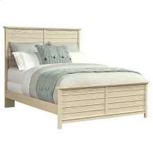 Driftwood Park-Panel Bed in Vanilla Oak - Queen