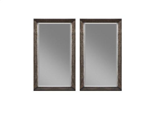 Emerald Home Millenium Twin Mirrors Weathered Oak B218-25