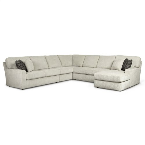 DOVELY 5PC Stationary Sectional Sofa