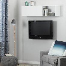 Wall Mounted Storage Unit - Pure White