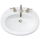 White Piazza Countertop Sink Product Image