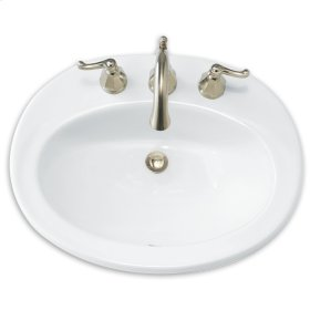 White Piazza Countertop Sink