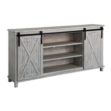 Covington White Wash Sliding Door Media Console
