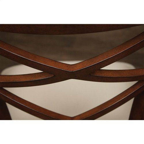 Windward Bay - Xx-back Upholstered Seat Arm Chair - Warm Rum Finish