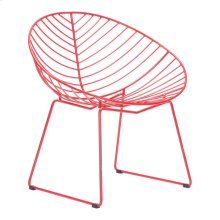 Hyde Outdoor Lounge Chair Red