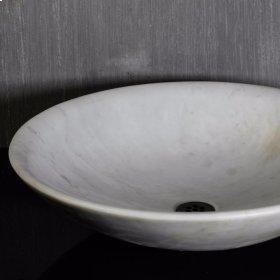 Custom Round Thin Vessel, Carrara Marble #2