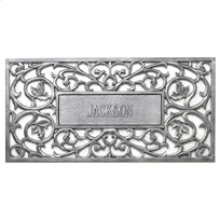 Personalized Filigree Rectangle Mat French Bronze