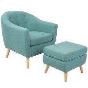 Rockwell Chair with Ottoman - Teal Product Image
