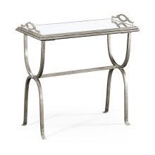 glomise & Silver Iron Tray Table