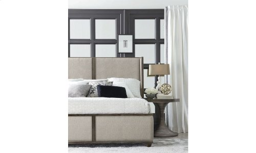 Geode Amethyst King Upholstered Bed