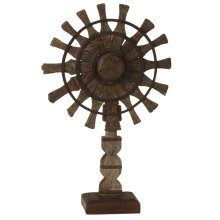 Vintage Charkha on Stand (Each One Will Vary)