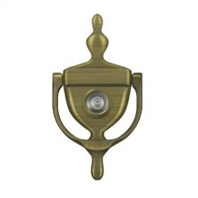 Door Knocker-Viewer - Antique Brass
