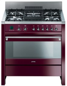 "Free-Standing Dual Fuel ""Opera"" Range, 36"", Glossy Red Wine"