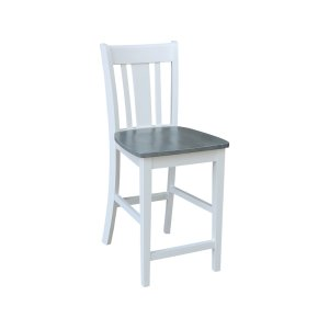 JOHN THOMAS FURNITURESan Remo Stool in White Grey
