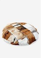 (LS) Safari Round Pillow in Patchwork Design.. Product Image