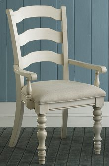 Pine Island Ladder Back Arm Chair - Old White