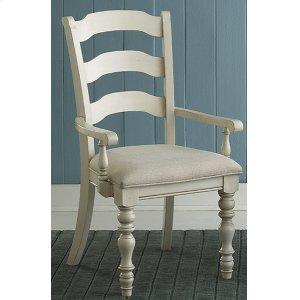 Hillsdale FurniturePine Island Ladder Back Arm Chair - Old White