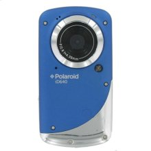 Polaroid Waterproof 720p High Definition Pocket Digital Video Camcorder with 2-Inch LCD Display, iD640-BLUE
