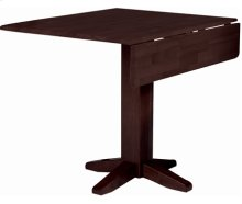 """36"""" Complete Square Dropleaf Table Rich Mocha"""