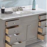 "Smithfield 60"" Single Bowl Vanity - Medium Gray Product Image"
