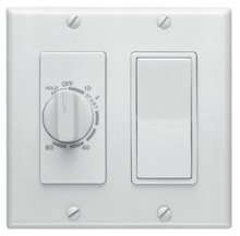 60 Minute Time Control with one rocker switch, White