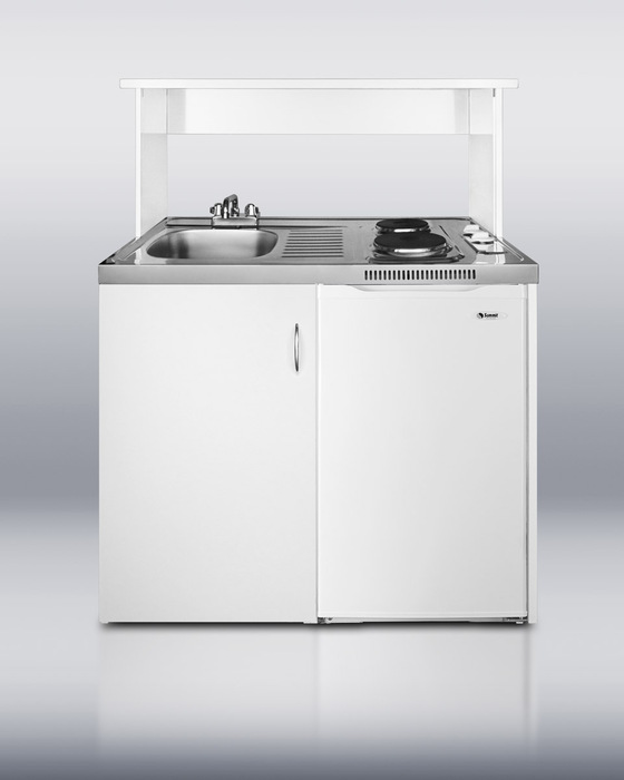 Hidden · Additional 39 Inch All In One Combination Kitchen With Two  Burners, Auto Defrost