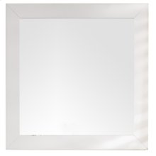 "Weston 40"" Rectangular Mirror, Bright White"