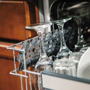 """24"""" Dishwasher w/Water Softener and Installed Viking Stainless Steel Panel"""