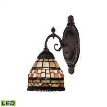 Mix-N-Match 1-Light Sconce in Tiffany Bronze - LED Offering Up To 800 Lumens (60 Watt Equivalent) Wi
