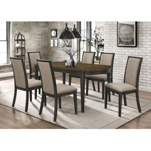 Clarksville Transitional Rubbed Charcoal Dining Chair