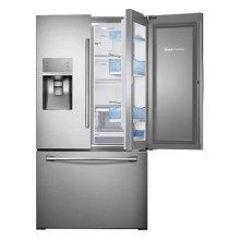 "36"" Wide, 30 cu. ft. Capacity 3-Door French Door Food ShowCase Refrigerator with Dual Ice Maker (Stainless Steel)"