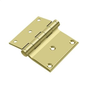 "3""x 3 1/2"" Half Surface Hinge - Polished Brass"