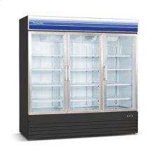 52 cu ft 3 Door Merchandiser Freezer (Black)