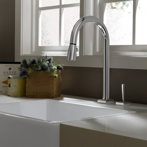 Hidden · Additional Cayenne Pull Down Kitchen Faucet   UltraSteel