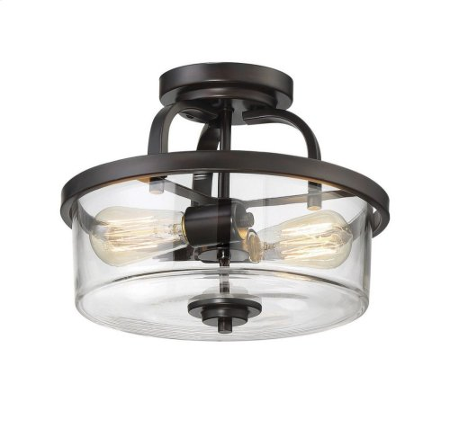 Tulsa 2 Light Semi Flush