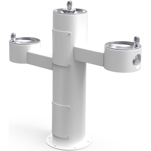 Elkay Outdoor Fountain Tri-Level Pedestal Non-Filtered, Non-Refrigerated White