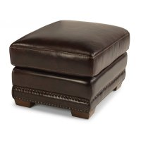Chandler Leather Ottoman Product Image