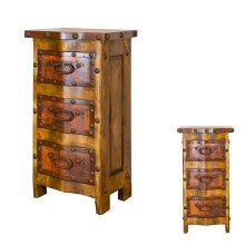 Copper 3 Drawer End Table
