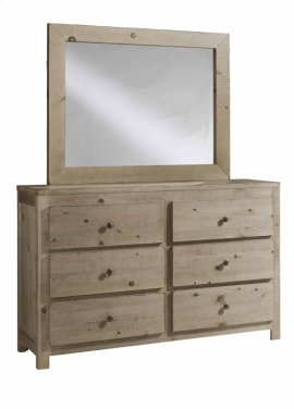 Drawer Dresser \u0026 Mirror - Natural Finish