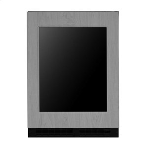 Marvel24-In Built-In Dual Zone Wine And Beverage Center with Door Style - Panel Ready Frame Glass, Door Swing - Right