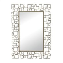 MIRROR SET IN METAL AND ANTIQUE MIRROR FRAME