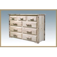Montana Log 9 Drawer Dresser
