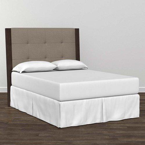 Bench*Made Oak Cal King Upholstered Panel Bed
