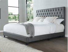 "Sophia King Bed, Steel 82""x4""x58"""