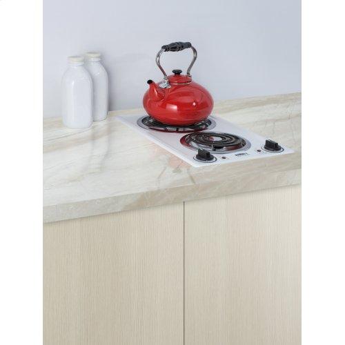 230v 2-burner Coil Cooktop In White Porcelain; Made In the USA