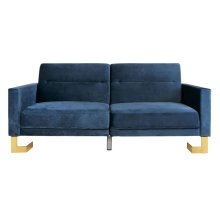 Tribeca Foldable Sofa Bed - Navy / Brass
