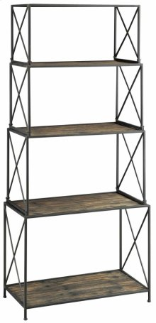 Cumberland Metal and Smoked Wood Etagere