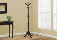 "COAT RACK - 73""H / CHERRY WOOD TRADITIONAL STYLE"